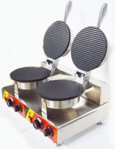 Intbuying Electric Dual Cone Waffle Baker