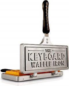 The Keyboard Waffle Iron Stovetop Waffle Maker